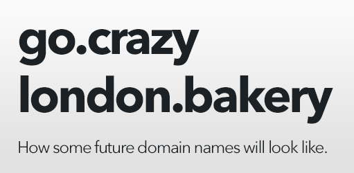 Crazy new domain names